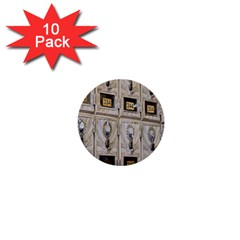 Post Office Old Vintage Building 1  Mini Buttons (10 pack)