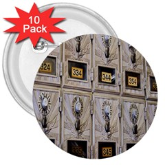 Post Office Old Vintage Building 3  Buttons (10 pack)