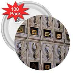 Post Office Old Vintage Building 3  Buttons (100 pack)