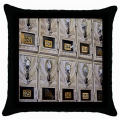 Post Office Old Vintage Building Throw Pillow Case (Black)