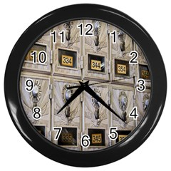 Post Office Old Vintage Building Wall Clocks (Black)