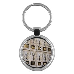 Post Office Old Vintage Building Key Chains (Round)