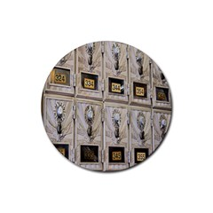 Post Office Old Vintage Building Rubber Round Coaster (4 Pack)