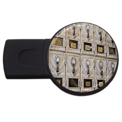 Post Office Old Vintage Building USB Flash Drive Round (1 GB)