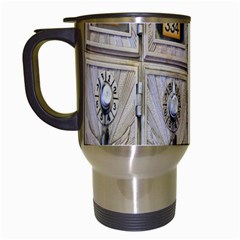 Post Office Old Vintage Building Travel Mugs (white)