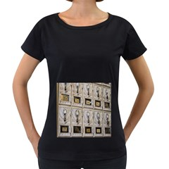 Post Office Old Vintage Building Women s Loose Fit T Shirt (black)