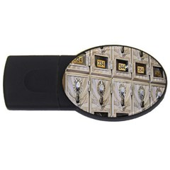 Post Office Old Vintage Building Usb Flash Drive Oval (4 Gb)