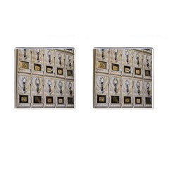 Post Office Old Vintage Building Cufflinks (Square)