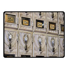 Post Office Old Vintage Building Fleece Blanket (small)