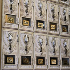 Post Office Old Vintage Building Magic Photo Cubes
