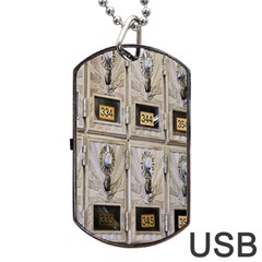 Post Office Old Vintage Building Dog Tag Usb Flash (two Sides)