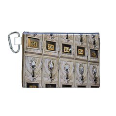 Post Office Old Vintage Building Canvas Cosmetic Bag (m)