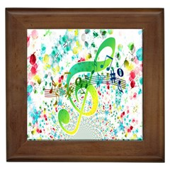 Points Circle Music Pattern Framed Tiles