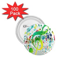 Points Circle Music Pattern 1 75  Buttons (100 Pack)