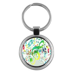 Points Circle Music Pattern Key Chains (Round)