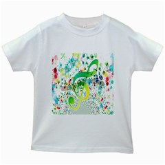 Points Circle Music Pattern Kids White T-Shirts