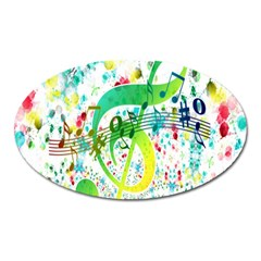 Points Circle Music Pattern Oval Magnet
