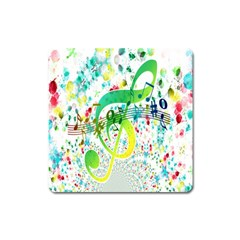 Points Circle Music Pattern Square Magnet