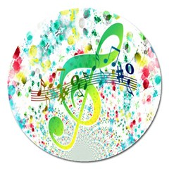 Points Circle Music Pattern Magnet 5  (round)