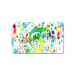 Points Circle Music Pattern Magnet (name Card)