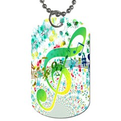 Points Circle Music Pattern Dog Tag (one Side)