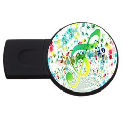 Points Circle Music Pattern USB Flash Drive Round (4 GB)