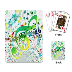 Points Circle Music Pattern Playing Card