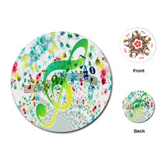 Points Circle Music Pattern Playing Cards (Round)