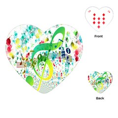 Points Circle Music Pattern Playing Cards (Heart)