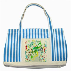 Points Circle Music Pattern Striped Blue Tote Bag