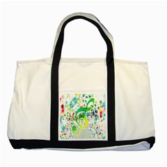 Points Circle Music Pattern Two Tone Tote Bag