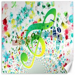 Points Circle Music Pattern Canvas 16  x 16