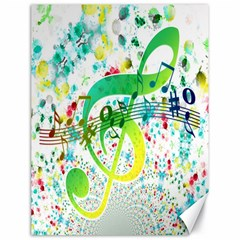 Points Circle Music Pattern Canvas 18  x 24