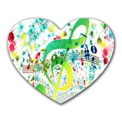 Points Circle Music Pattern Heart Mousepads