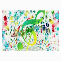 Points Circle Music Pattern Large Glasses Cloth (2 Side)