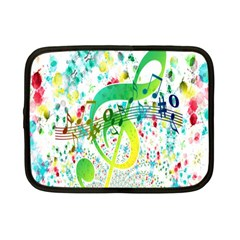 Points Circle Music Pattern Netbook Case (Small)