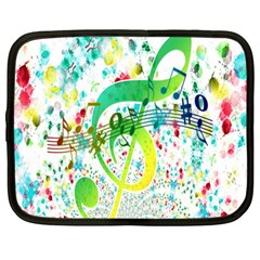 Points Circle Music Pattern Netbook Case (large)