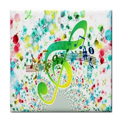 Points Circle Music Pattern Face Towel