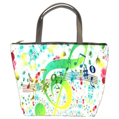 Points Circle Music Pattern Bucket Bags