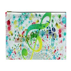 Points Circle Music Pattern Cosmetic Bag (XL)