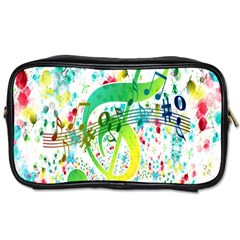 Points Circle Music Pattern Toiletries Bags