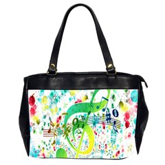 Points Circle Music Pattern Office Handbags (2 Sides)