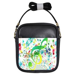 Points Circle Music Pattern Girls Sling Bags