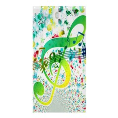 Points Circle Music Pattern Shower Curtain 36  X 72  (stall)