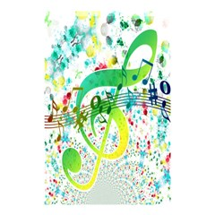 Points Circle Music Pattern Shower Curtain 48  X 72  (small)