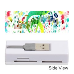 Points Circle Music Pattern Memory Card Reader (stick)