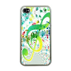Points Circle Music Pattern Apple iPhone 4 Case (Clear)