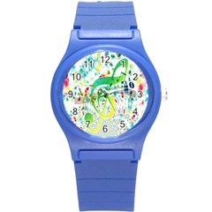 Points Circle Music Pattern Round Plastic Sport Watch (s)