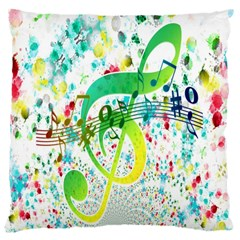 Points Circle Music Pattern Large Cushion Case (two Sides)