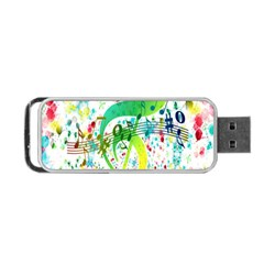 Points Circle Music Pattern Portable Usb Flash (one Side)